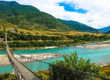 Punakha Suspension Bridge and Villages