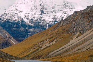 Jomolhari the second highest mountain in Bhutan
